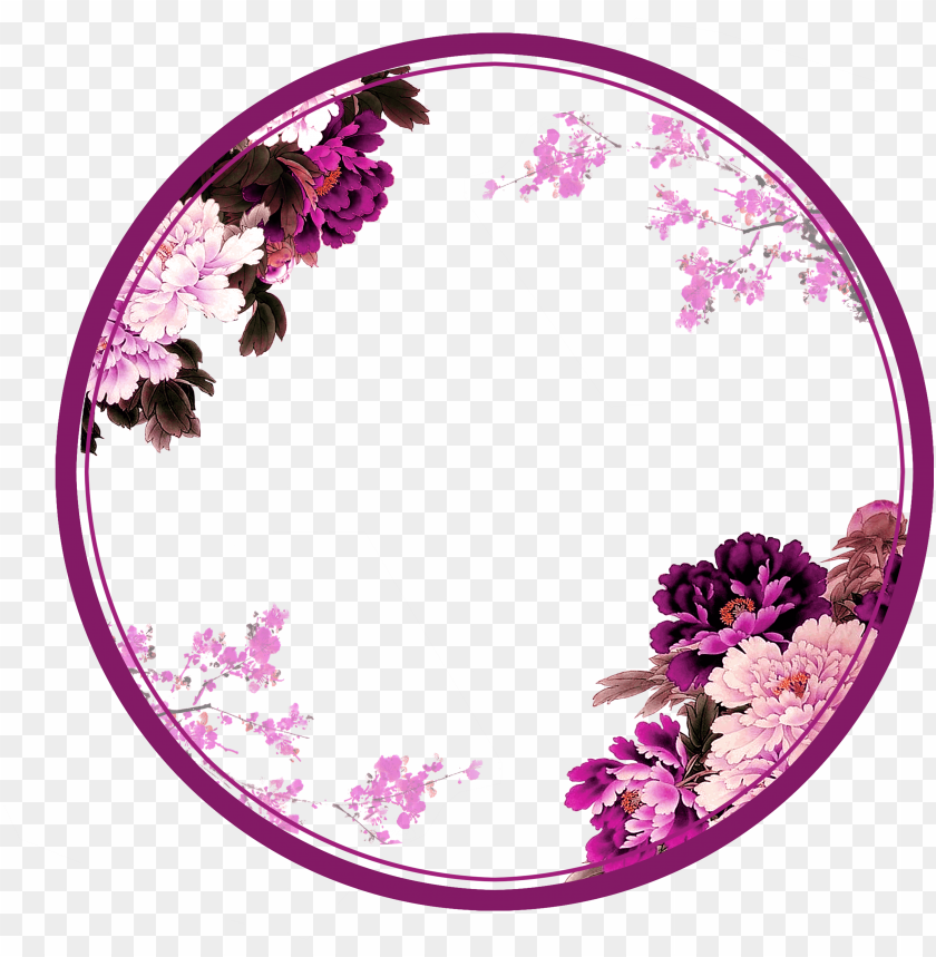 free PNG urple circle png - flower circle border PNG image with transparent background PNG images transparent
