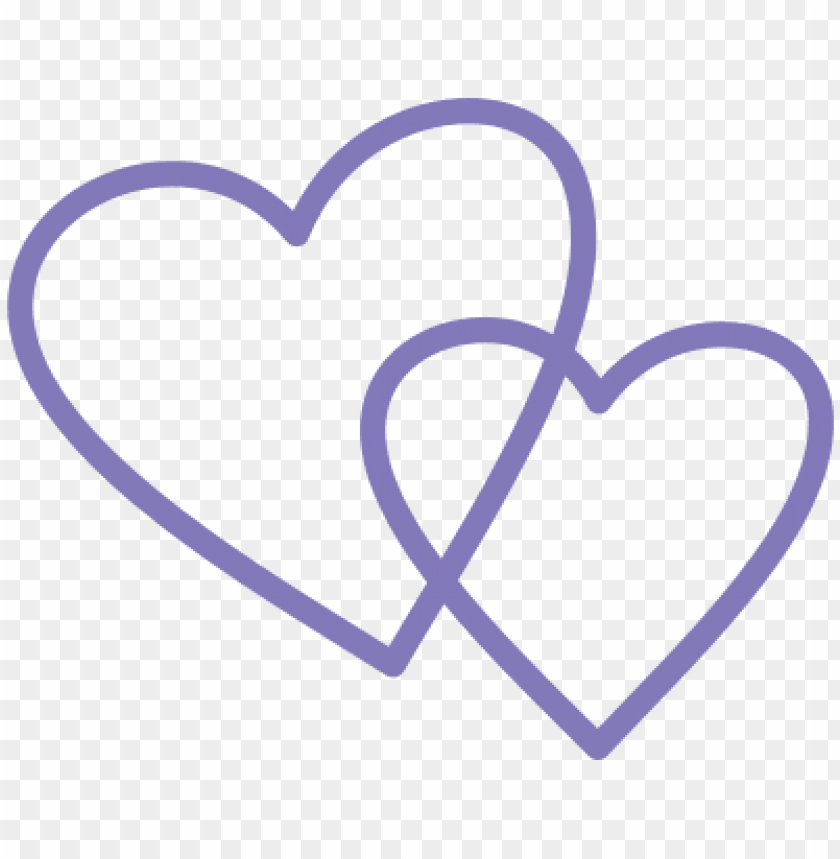 free PNG urple double heart shapes svg - double heart shape PNG image with transparent background PNG images transparent