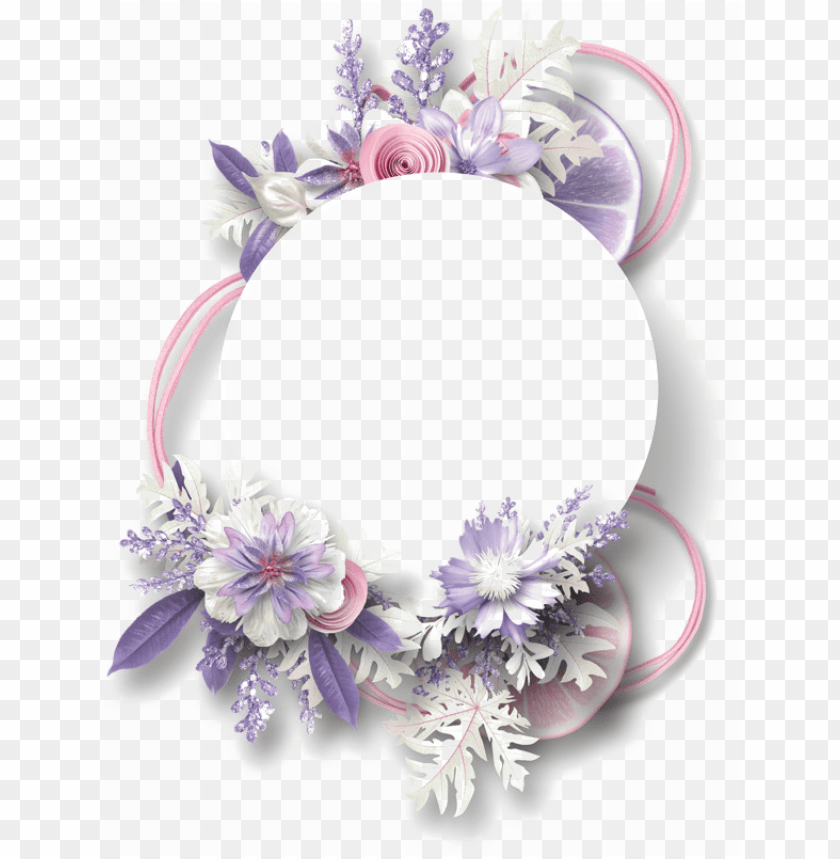free PNG urple floral border png free download - purple flower border PNG image with transparent background PNG images transparent