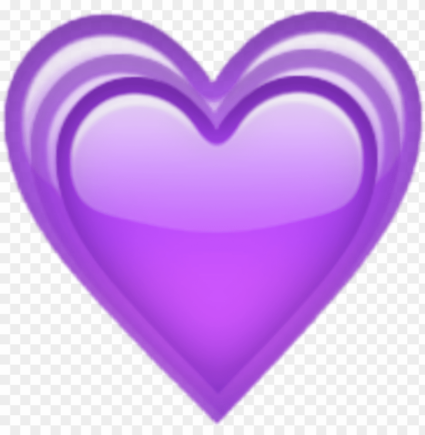 free PNG urple hearts heart corazon violeta corazones amor - purple love heart emoji PNG image with transparent background PNG images transparent