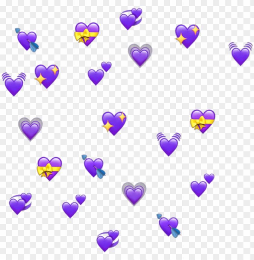 free PNG urple hearts heart emoji emojis tumblr - many heart emoji PNG image with transparent background PNG images transparent