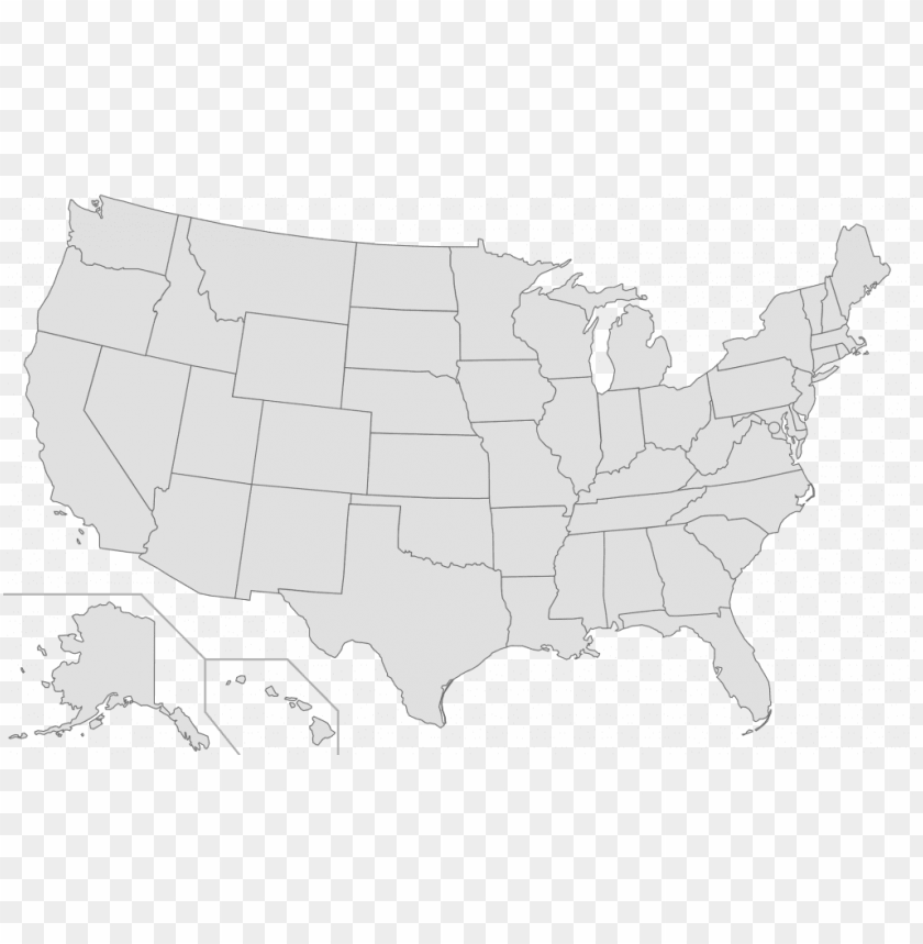 free PNG us map transparent background grey map usa png hi - black map of us PNG image with transparent background PNG images transparent