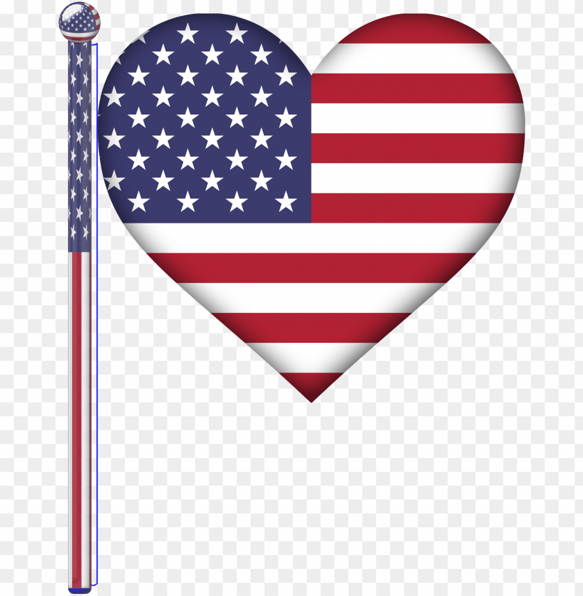 free PNG usa heart flag graphic free download - united states flag heart PNG image with transparent background PNG images transparent