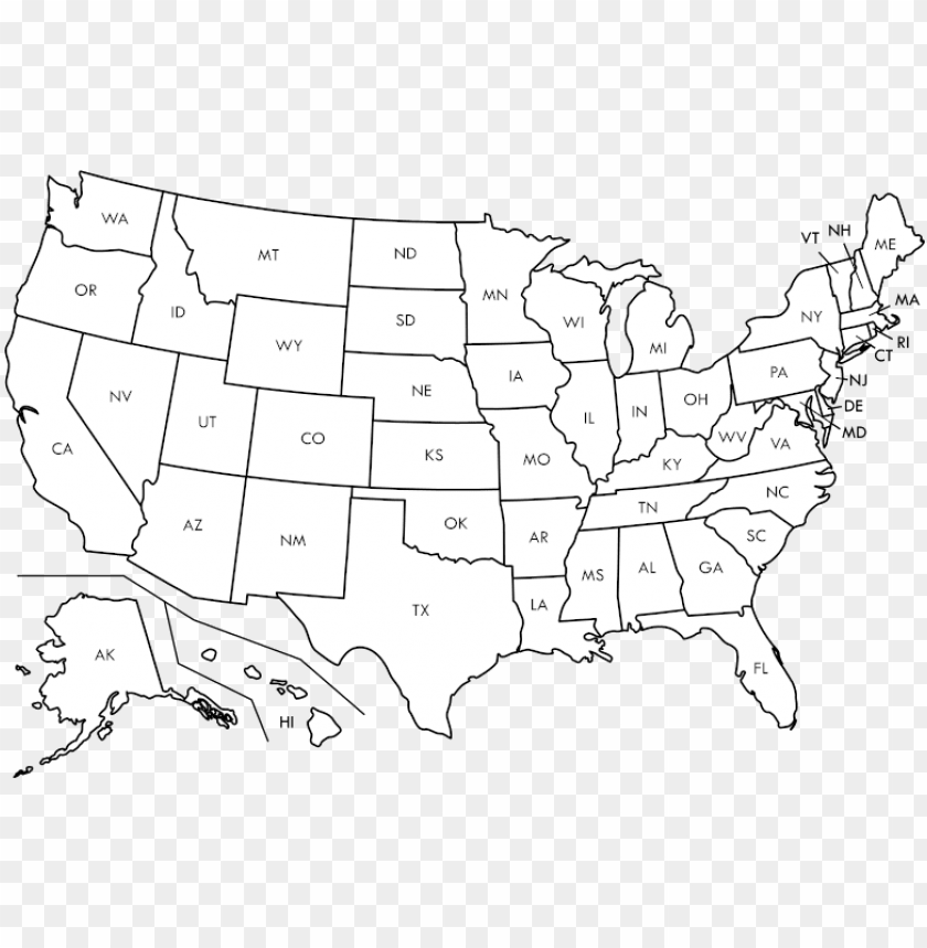 free PNG usa map blank png clipart library library - blank united states ma PNG image with transparent background PNG images transparent