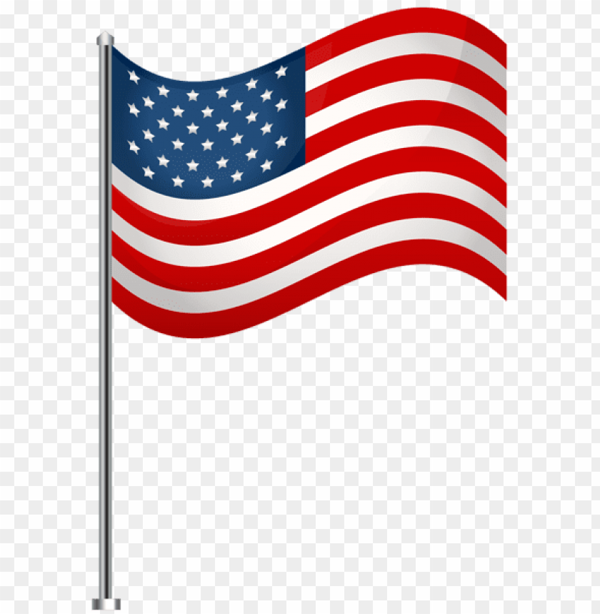 free PNG usa waving flag transparent clip art image of july - flag of usa transparent PNG image with transparent background PNG images transparent