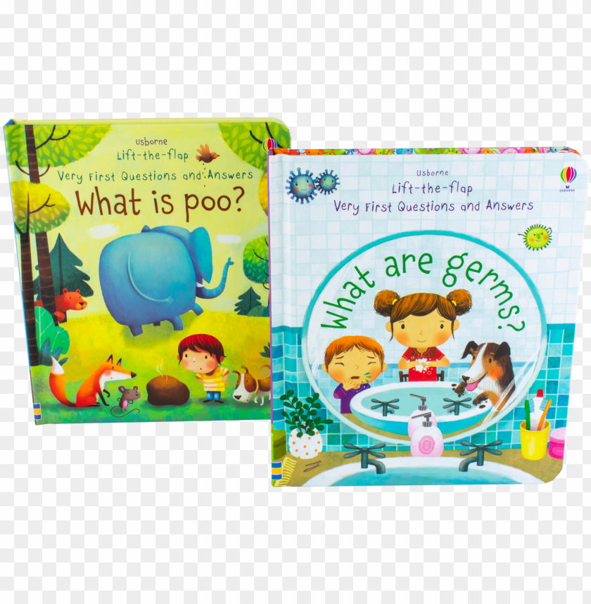 free PNG usborne lift the flap very first questions and answers - q son los germenes PNG image with transparent background PNG images transparent