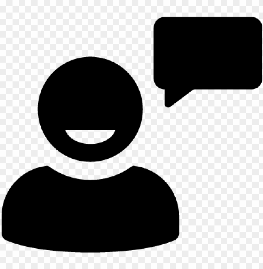 free PNG user talking with speech bubble vector - person talking icon transparent PNG image with transparent background PNG images transparent