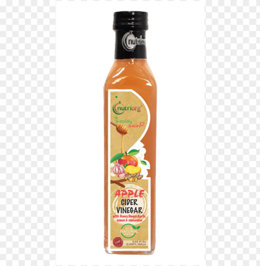 free PNG utriorg healthy heart apple cider vinegar with honey,ginger, - glass bottle PNG image with transparent background PNG images transparent