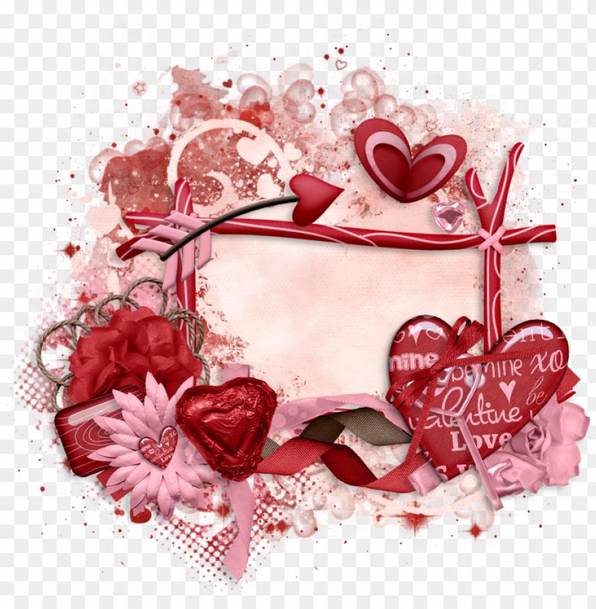 free PNG valentine cluster frame 700 x - heart PNG image with transparent background PNG images transparent