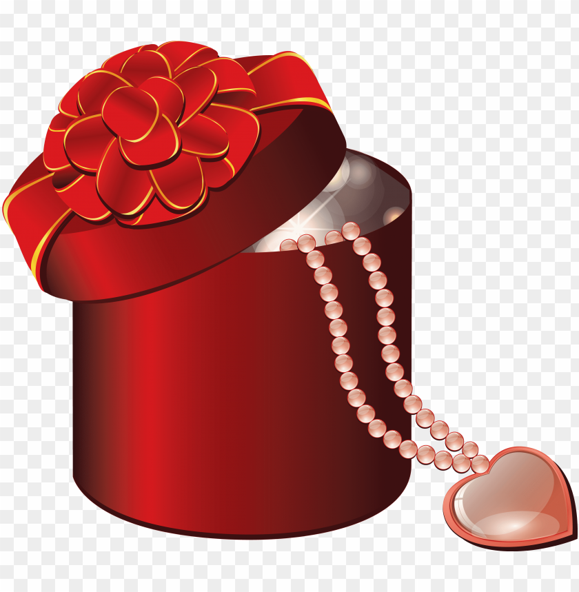 valentine red round box with heart gallery - portable network graphics PNG image with transparent background@toppng.com