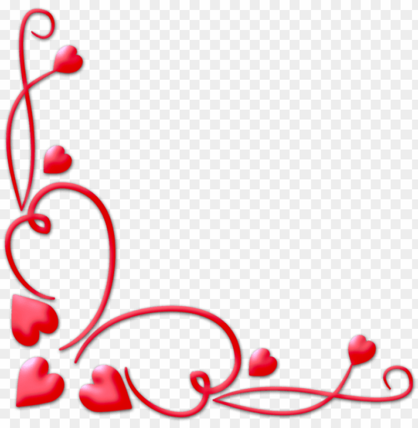 valentines day border png download image - valentines frame PNG image with transparent background@toppng.com