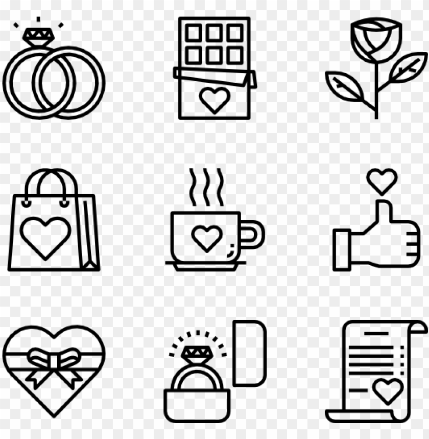 free PNG valentine's day - food icons PNG image with transparent background PNG images transparent