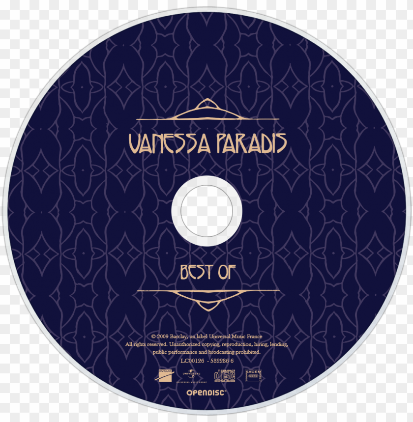 free PNG vanessa paradis best of cd disc image - vanessa paradis folies bergeres PNG image with transparent background PNG images transparent