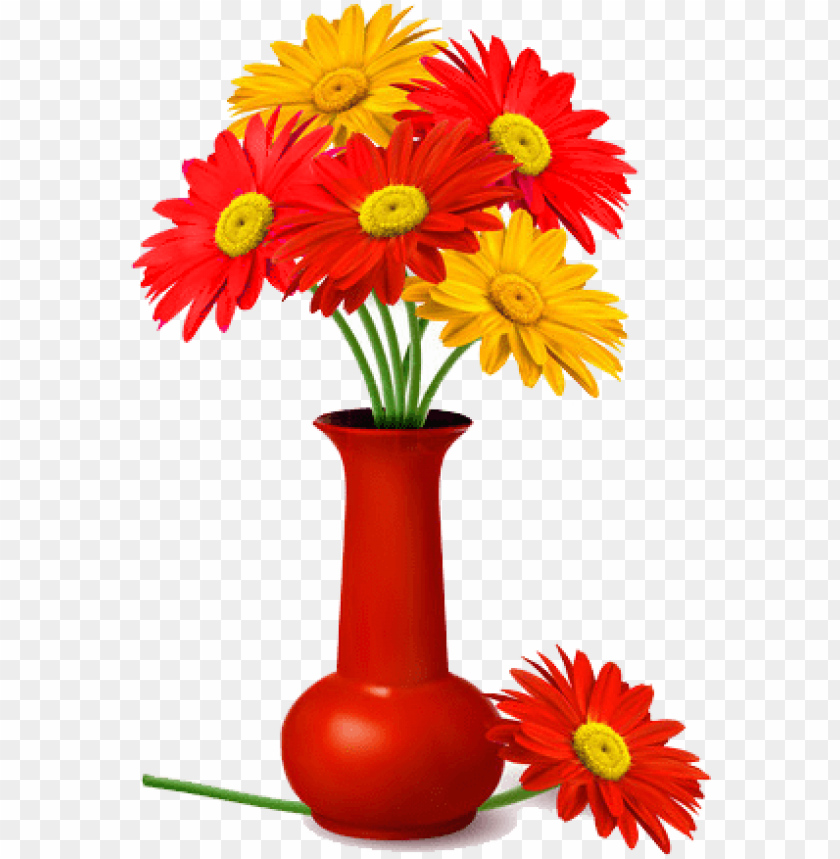 free PNG vase of flowers png pin cartoon flower vase decorative - flower in a flower vase PNG image with transparent background PNG images transparent