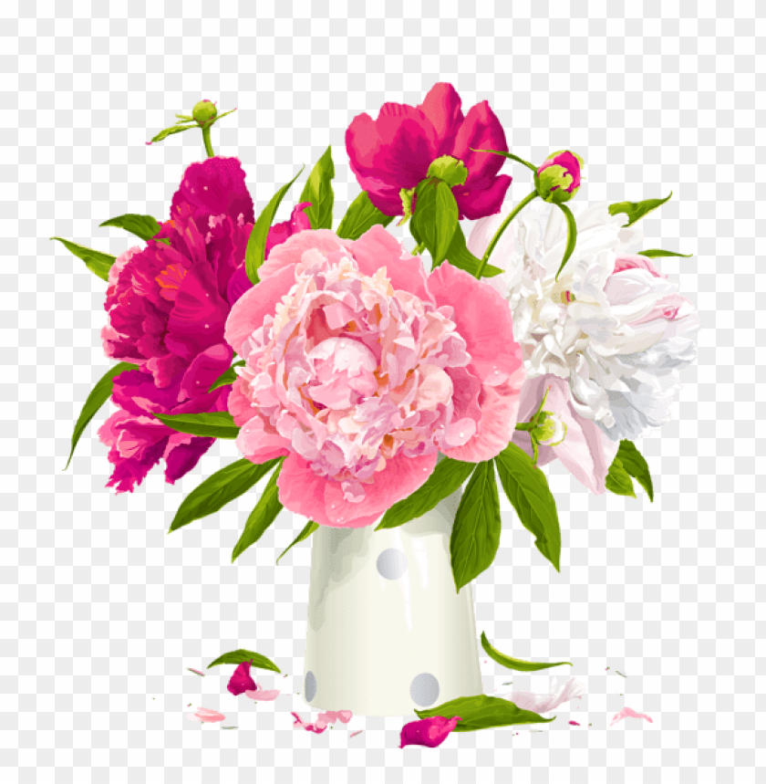 free PNG Download vase with peonies png images background PNG images transparent