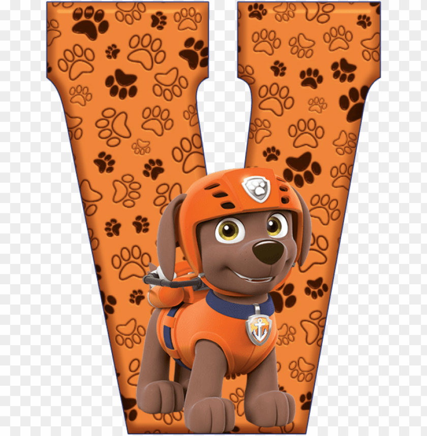 *✿**✿*v*✿**✿*de alfabeto decorativo - paw patrol alphabet w PNG image with transparent background@toppng.com