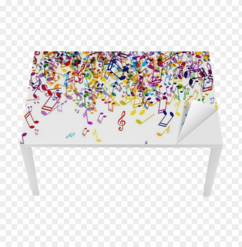 free PNG vector background with colorful music notes table & - color music notes PNG image with transparent background PNG images transparent
