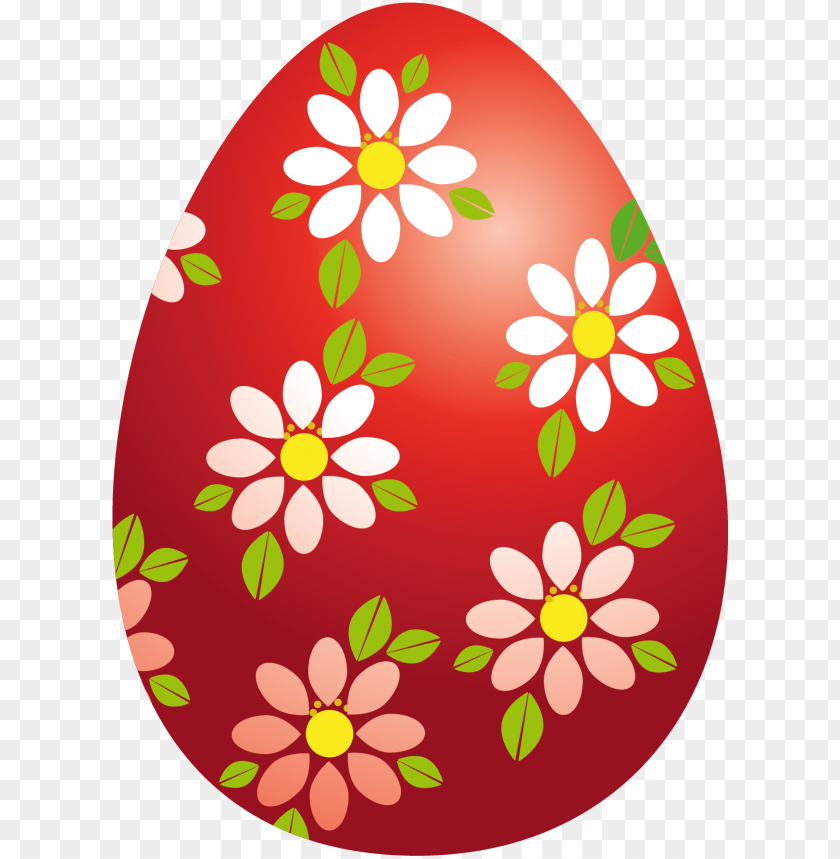free PNG vector black and white library easter flowers clipart - easter eggs clipart red PNG image with transparent background PNG images transparent