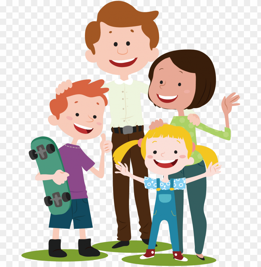 free PNG vector cartoon family - family cartoon transparent PNG image with transparent background PNG images transparent