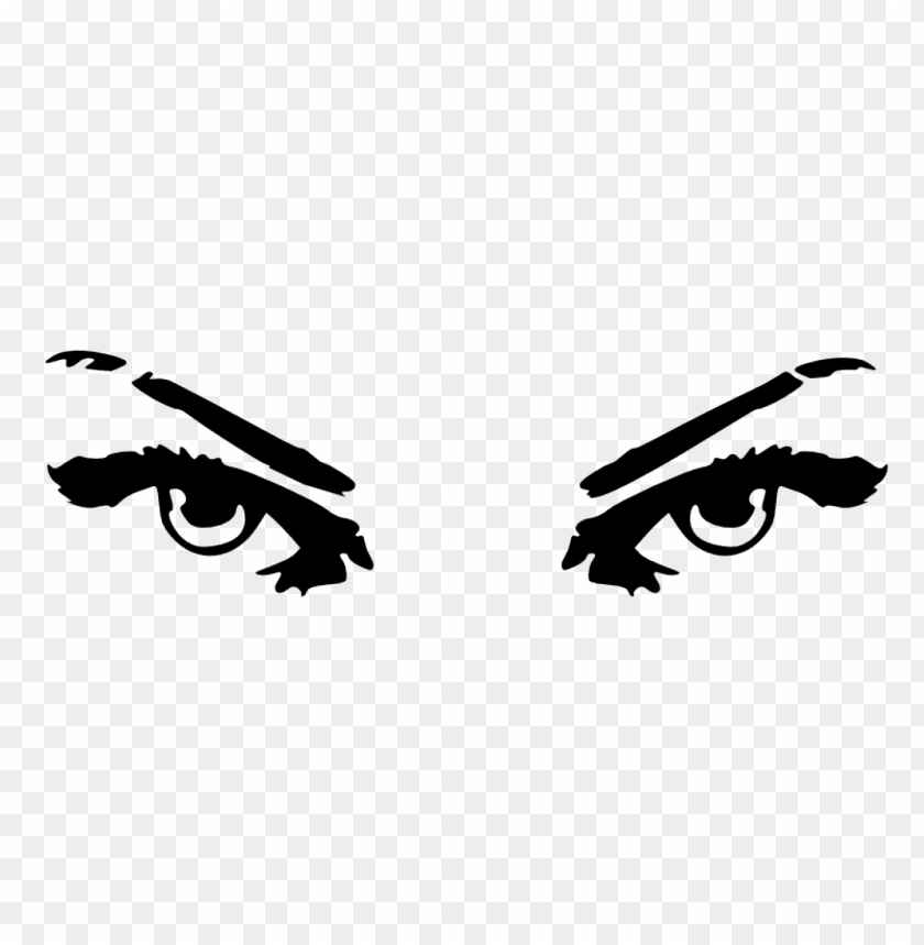 free PNG vector clip art of evil woman's eyes - evil eyes clip art PNG image with transparent background PNG images transparent