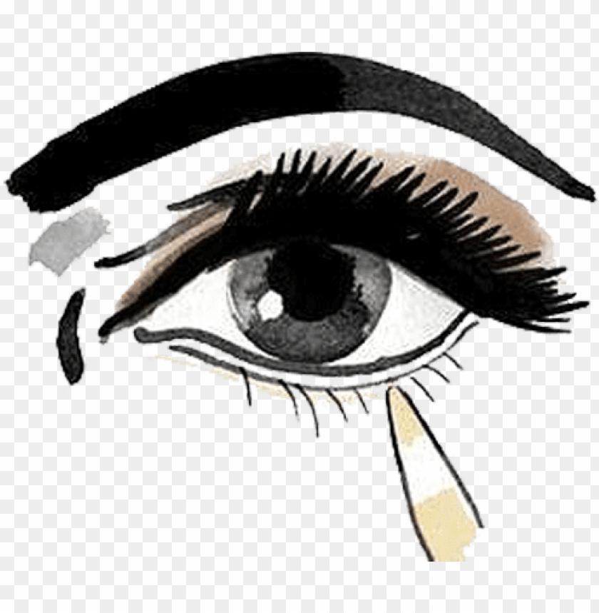 free PNG vector download cosmetics make up eye shadow illustration - eye make up PNG image with transparent background PNG images transparent