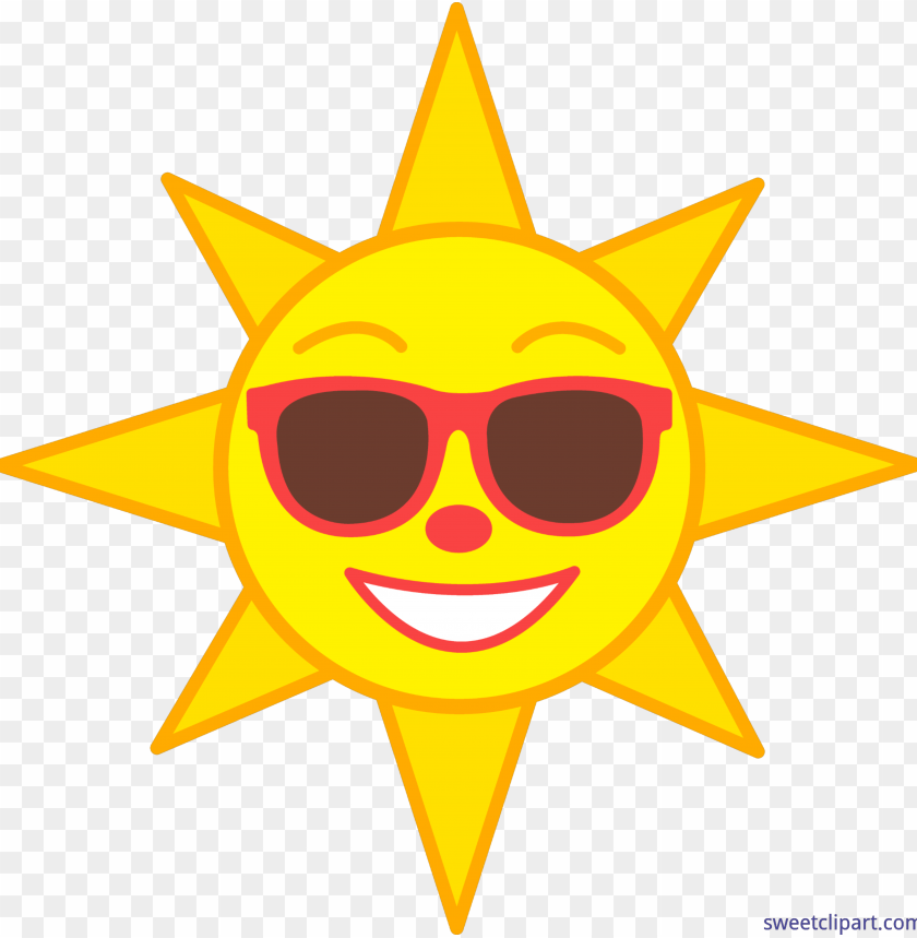 free PNG vector free library clip art sweet - sun clipart with sunglasses PNG image with transparent background PNG images transparent