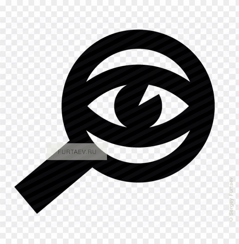 free PNG vector icon of eye looking through magnifying glass - magnifying glass with eye icon png - Free PNG Images PNG images transparent
