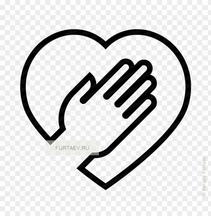 free PNG vector icon of heart under human hand - hand on heart ico PNG image with transparent background PNG images transparent