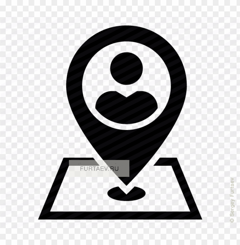 free PNG vector icon of person on map marker - location icon  small png - Free PNG Images PNG images transparent