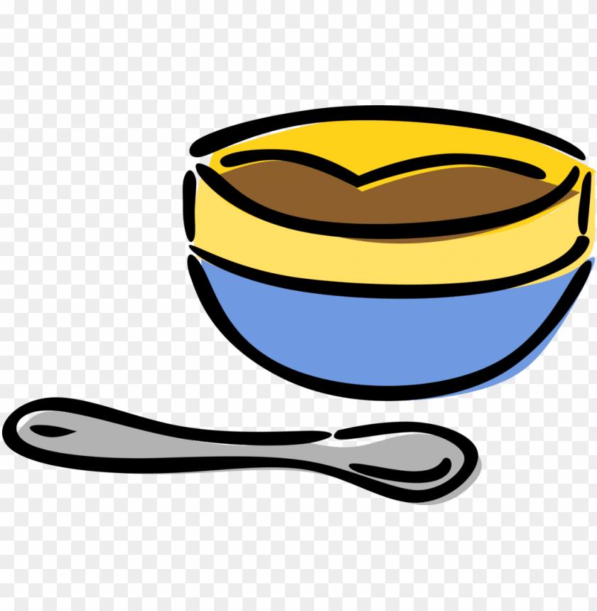 free PNG vector illustration of dessert dish in bowl with spoon - vector illustration of dessert dish in bowl with spoon PNG image with transparent background PNG images transparent
