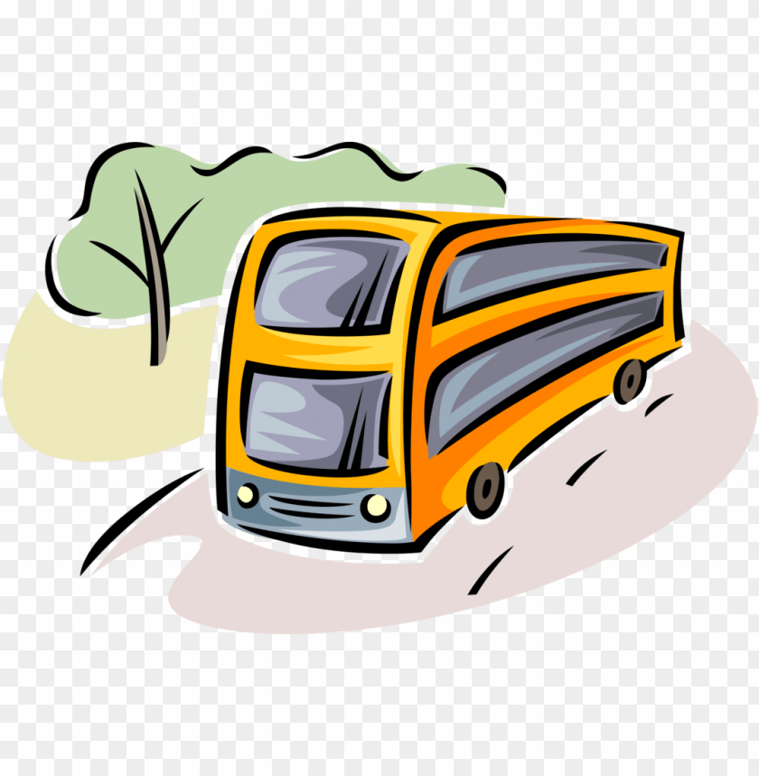 free PNG vector illustration of intercity passenger tour bus - illustratio PNG image with transparent background PNG images transparent