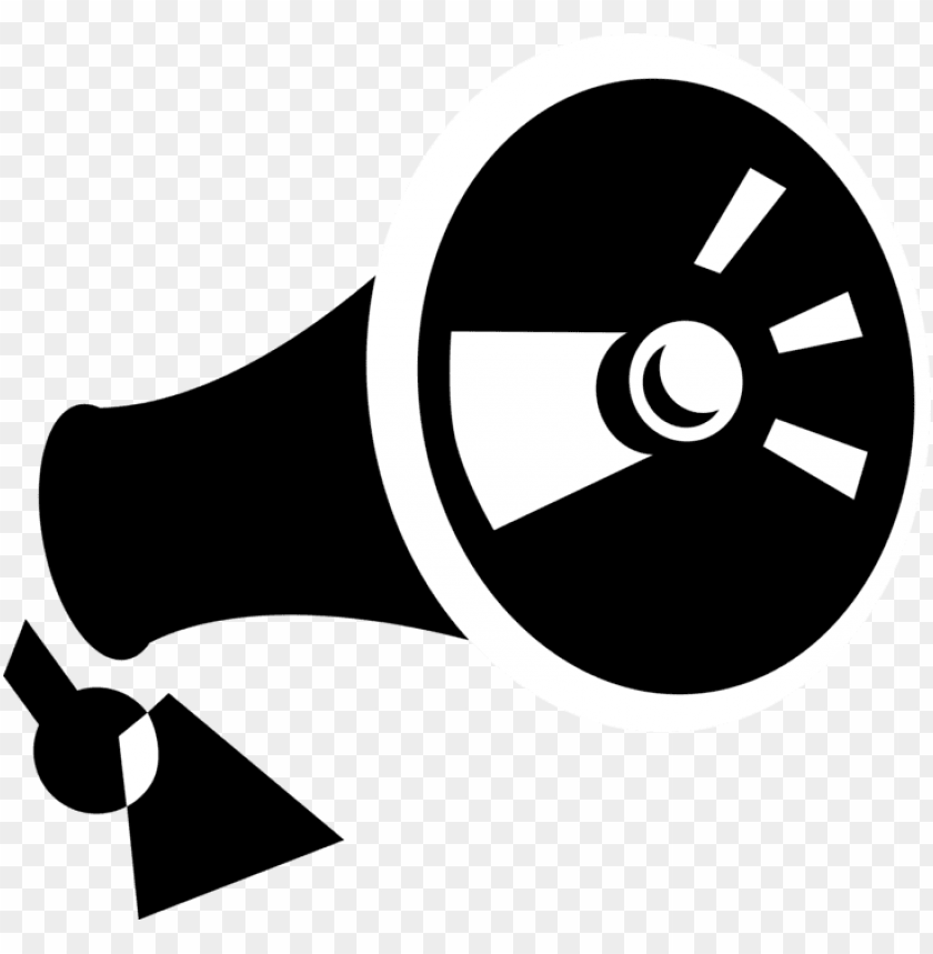 free PNG vector illustration of megaphone or bullhorn to amplify - circle PNG image with transparent background PNG images transparent