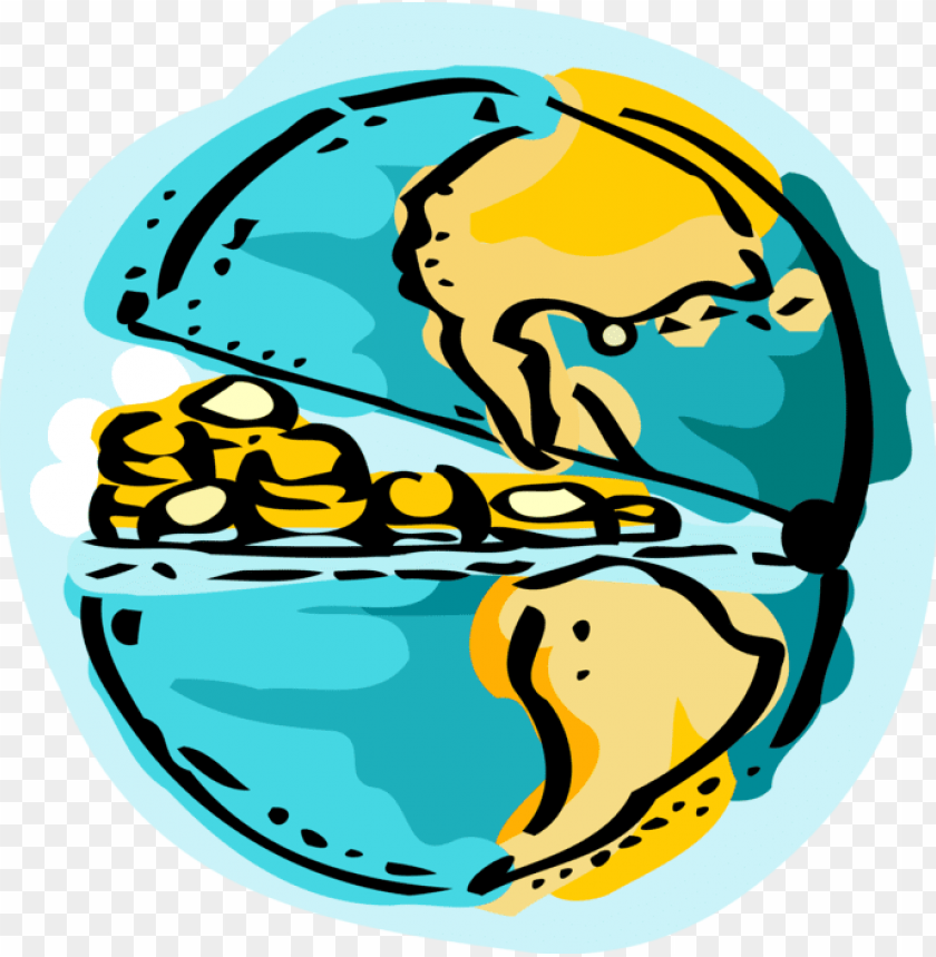 free PNG vector illustration of money runs the world planet - money PNG image with transparent background PNG images transparent