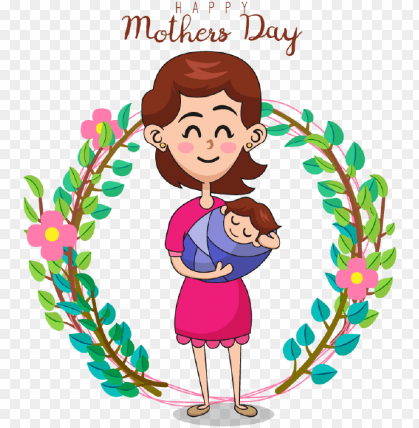 free PNG vector illustration of mother and daughter mother's - mother PNG image with transparent background PNG images transparent