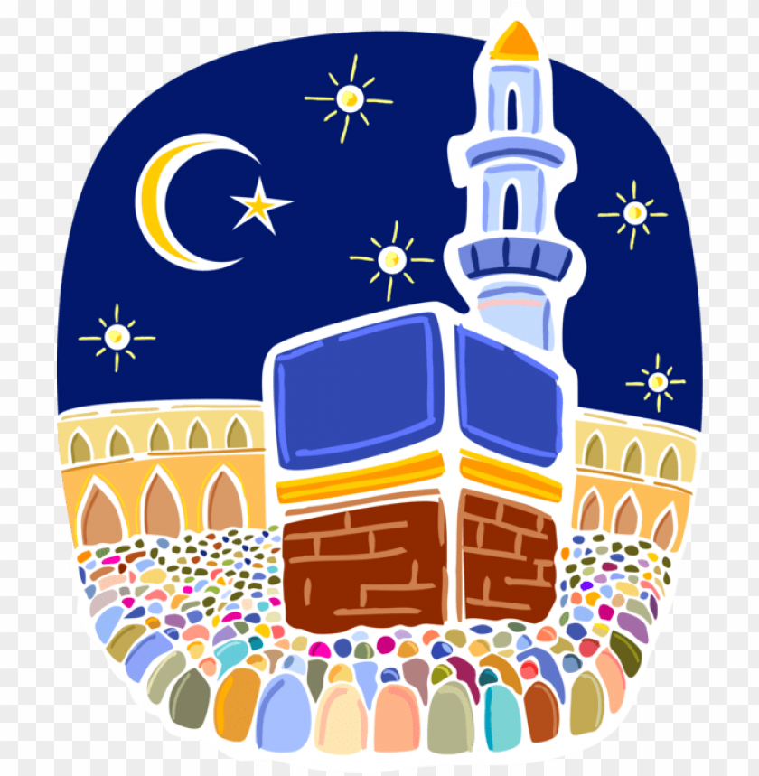 free PNG vector illustration of muslim hajj pilgrimage in al - hajj clip art PNG image with transparent background PNG images transparent
