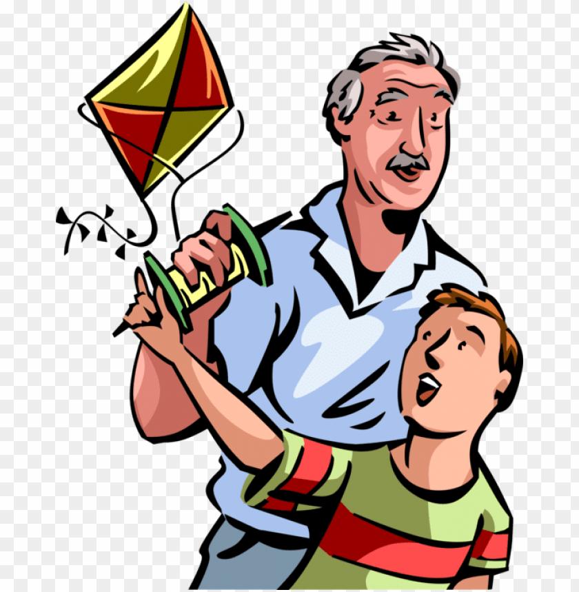 free PNG vector illustration of senior citizen grandfather enjoys - vector illustration of senior citizen grandfather enjoys PNG image with transparent background PNG images transparent