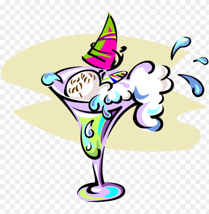 free PNG vector illustration of windsurfer in mixed cocktail - cartoo PNG image with transparent background PNG images transparent