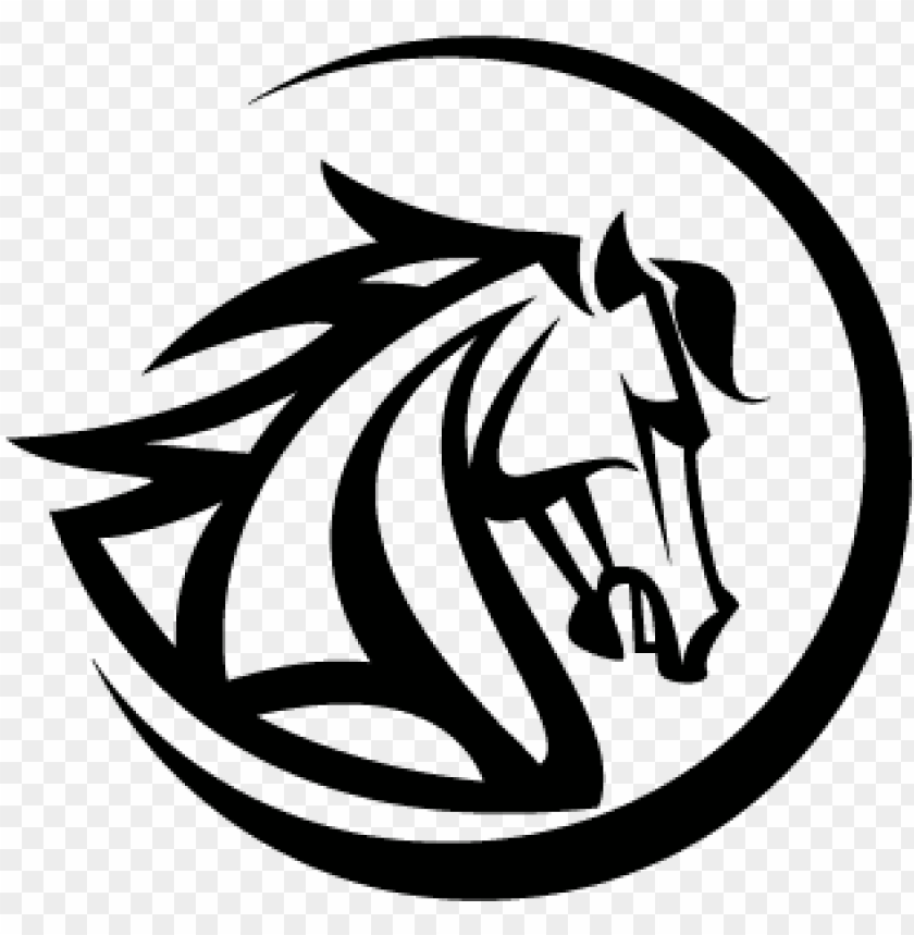 free PNG vector logo black horse head logo template - horse head vector PNG image with transparent background PNG images transparent
