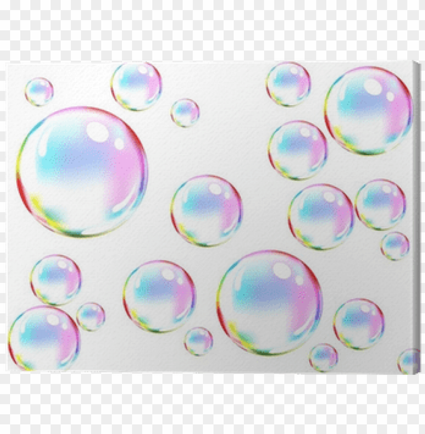 free PNG vector of colored soap bubbles canvas print • pixers® - soap bubbles drawi PNG image with transparent background PNG images transparent