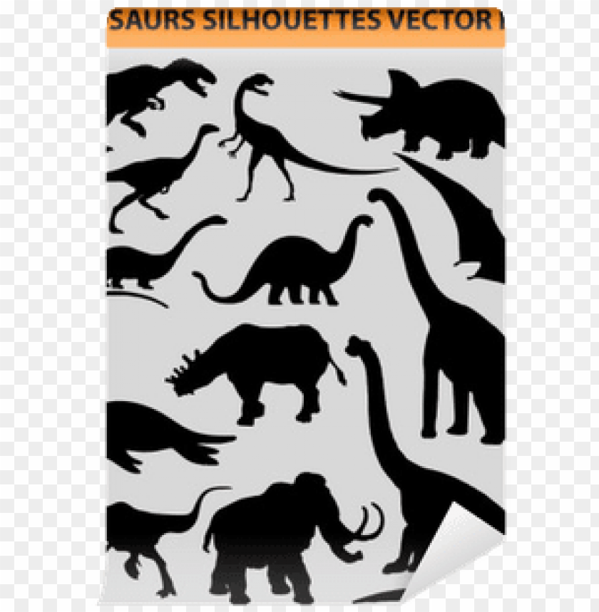 free PNG vector pack with 13 dinosaur silhouettes wall mural - 1s tee dinosaur velociraptor teeth PNG image with transparent background PNG images transparent