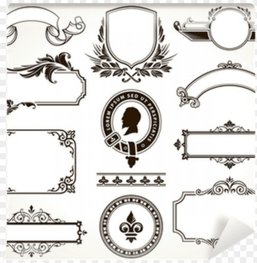 free PNG vector set of ornate frames and calligraphic design - stitching together an essay by brendon zatirka 9781634875592 PNG image with transparent background PNG images transparent