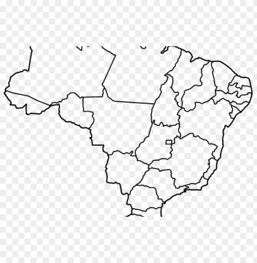 free PNG vector stock brazil map outline png full hd maps - brazil map vector PNG image with transparent background PNG images transparent