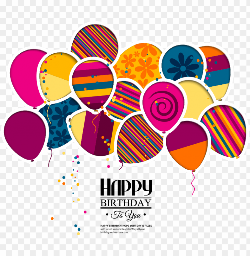 free PNG vector wedding greeting birthday invitation cake balloons - happy birthday balloons and cake background PNG image with transparent background PNG images transparent