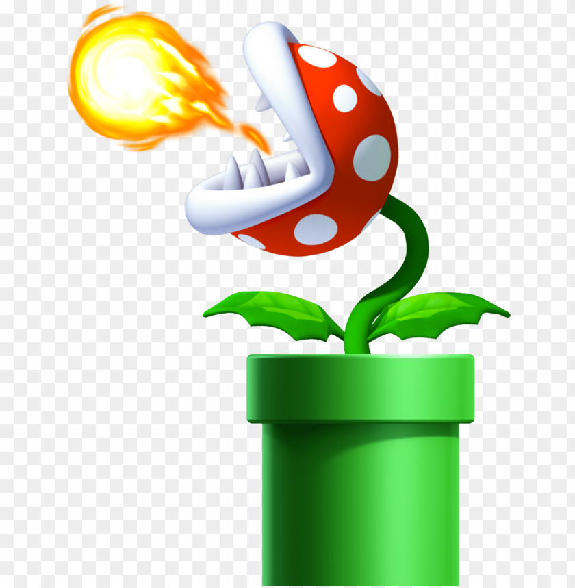 free PNG venus fire trap orig - new super mario bros. u wall stickers (small) PNG image with transparent background PNG images transparent