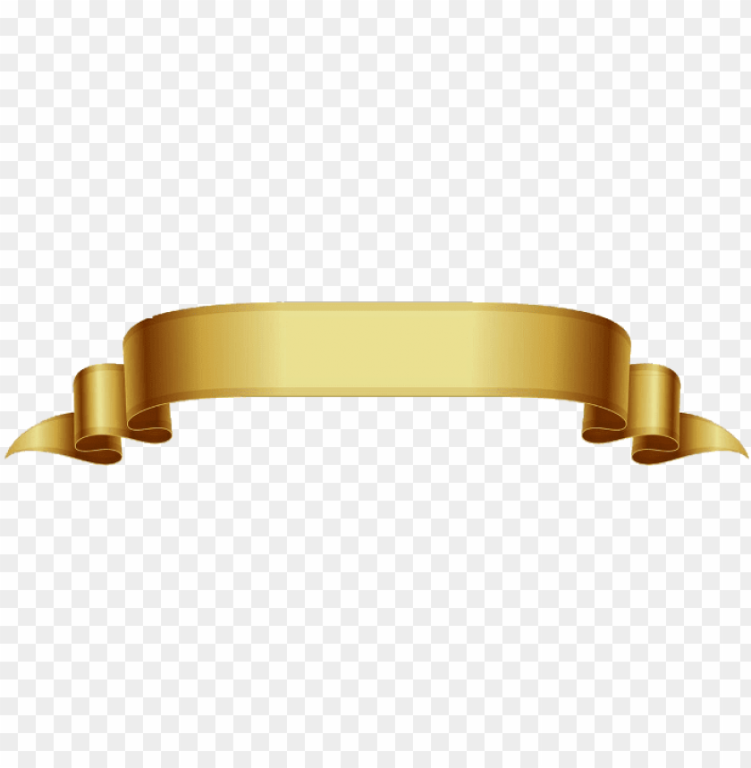 free PNG vetor fita dourada gold freetoedit - gold banner vector PNG image with transparent background PNG images transparent