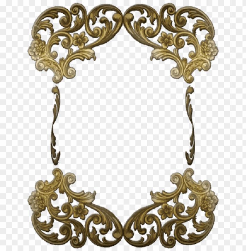 free PNG victorian golden ornate frame - gold victorian frame PNG image with transparent background PNG images transparent
