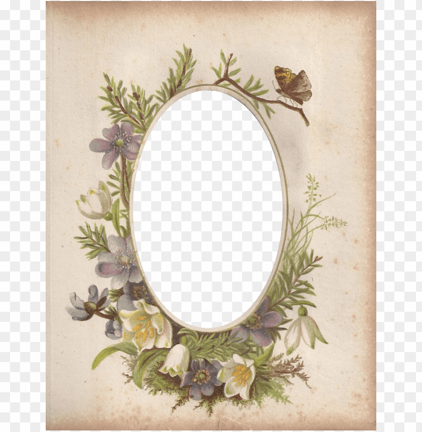 free PNG victorian photo album oval floral frame ~ zibi vintage - frame vintage oval floral PNG image with transparent background PNG images transparent
