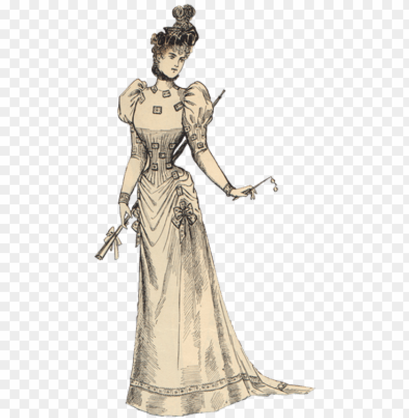 free PNG victorian vintage woman - victorian lady transparent PNG image with transparent background PNG images transparent