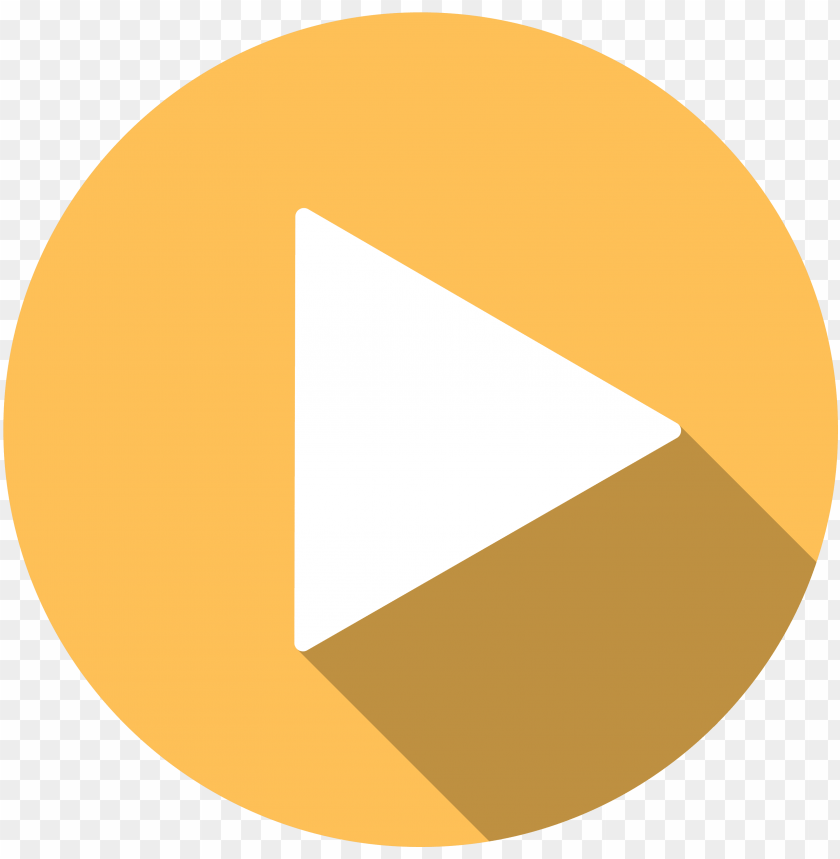 free PNG video play button icon - play button png orange PNG image with transparent background PNG images transparent