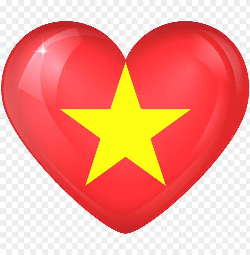 free PNG vietnam flag heart PNG image with transparent background PNG images transparent